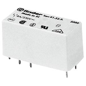 Steckrelais, 1x UM, 250V/16A, 12V, RM 5,0mm FINDER 41.61.9.012.0010