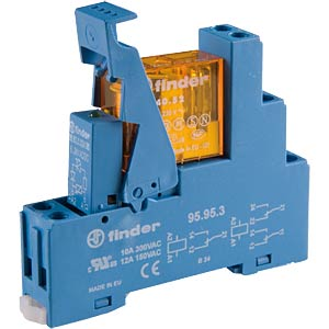 Coupling relay, 2 changer, 8 A, 230 VAC FINDER 49.52.8.230.0060