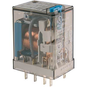 Industrial relay, 2xUM, 250 V/10 A, 230 VAC FINDER 55.32.8.230.0040