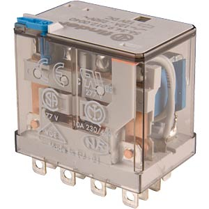 Industrial relay, 4xUM, 250 V/12 A, 230 VAC FINDER 56.34.8.230.0040