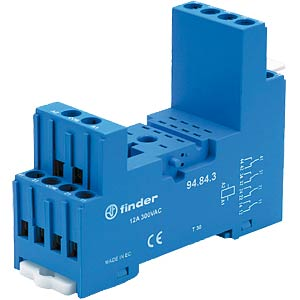 Relay base for Fin 55.34/55.32, blue, old version FINDER 94.84.3