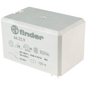 Power relay 30 A, for PCB FINDER 66.22.8.230.0000