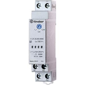 Twilight switch for DIN rail, 1 - 100 lux FINDER 113182300000