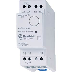 Impulse switch, 1 x one, 250 V/16 A, electronic FINDER 13.01.8.230