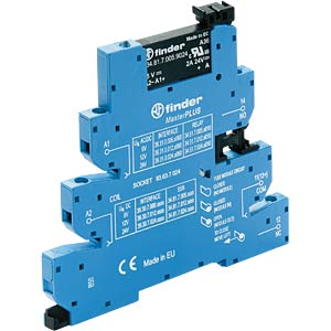 Coupling relay, 1 closed contact, 2 A, 24 VDC/230 VAC FINDER 393082309024