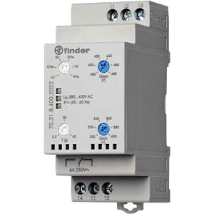Grid monitoring 3-phase for 380 - 415VAC FINDER 703184002022