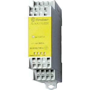 Relay module, 3 closed contact, 1 open contact for 6 A, 24 VDC FINDER 7S1490240310