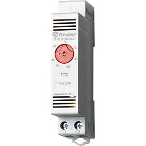 Thermostat, 1 open contact, 10A, from -20 to +40°C FINDER 7T8100002401