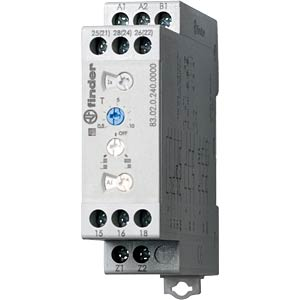 Time lag relay, multi, 2 changer, 10A, 24 - 240VAC/DC FINDER 830202400000