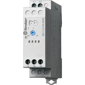 On-delay relay, 1 changer, 16 A, 24 - 240 VAC/DC FINDER 831102400000