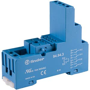 Relay socket for FIN 55.34/32, blue FINDER 94.94.3