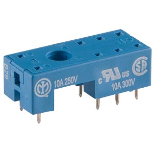 PCB socket for Fin 41.52/41.61, RM 5 mm FINDER 95.15.2