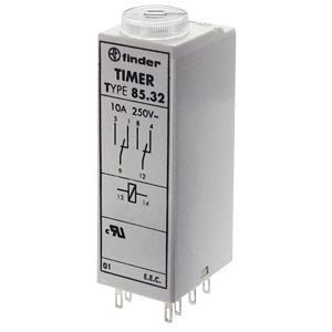 Time lag relay, 4xUM, 250 V/7 A, 12 V, 4 functions FINDER 85.04.0.012