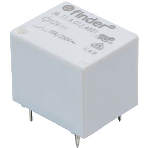 Finder-Subminiaturrelais, 1x UM, 250V 10A, 12V FINDER 36.11.9.012.4011