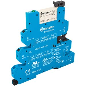 MasterPlus coupling relay — one changeover contact, 24 - 240 V A FINDER 396102400060