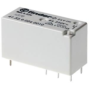 PCB relay — bistable, 2 changeover contacts, 24 V DC FINDER 415260244016