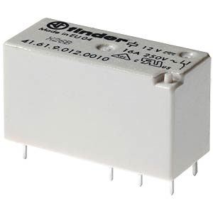 PCB relay — bistable, 1 changeover contacts, 24 V DC FINDER 416160244016