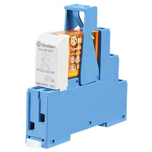 Coupling relay, 2 changeover contact, 8 A, 24 V AC FINDER 48.52.8.024.0060
