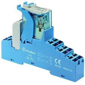 Coupling relay — push-in, two changeover contacts, 230 V AC FINDER 4CP282300060