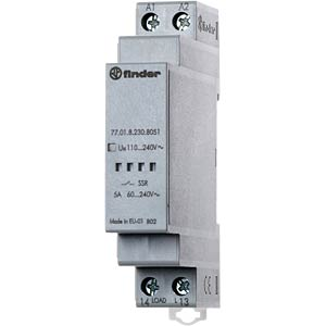 Load relay, 5A, instantaneous value switch, 240V FINDER 7701.82308051