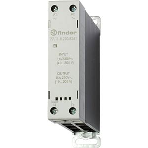 Load relay, 15 A, instantaneous value switch, 240 V FINDER 771182308251