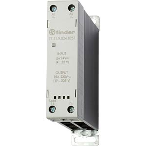 Load relay, 15 A, instantaneous value switch, 24 V FINDER 771190248251