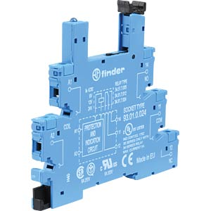 Relaissockel für: FIN 34.51/.81, blau FINDER 93.01.0.024
