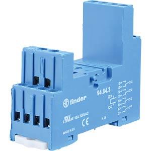 Relaissockel für: FIN 55.32/.34, blau, alte Ausführung FINDER 94.84.3