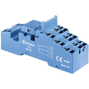 Relay socket — push-in, for 40.52/40.61/44.52/44.62 relays FINDER 95P5