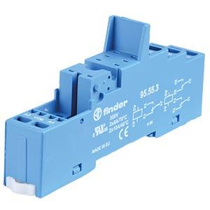 Relay socket for FIN 40.51/52/61/41.52, blue FINDER 95.55.3