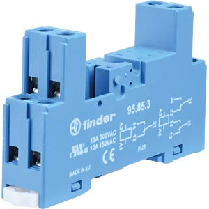 Relaissockel für: FIN 40.51/.52/.61, blau FINDER 95.85.3