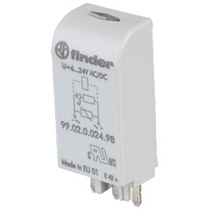 LED+Varistormodul für FIN 95.03/05, 97.01/02, bl FINDER 99.02.0.024.98