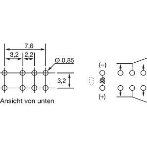 Ultra miniature signal relay FTR-B4 4.5 V / 2 changers 2 A FUJITSU-TAKAMISAWA FTR-B4CA4.5Z