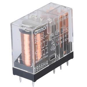 Printrelais - 2 Wechsler, 5 A, 24 V DC OMRON G2R224DC