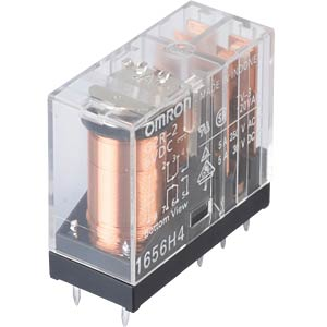 Printrelais - 2 Wechsler, 5 A, 6 V DC OMRON G2R-2   6DC