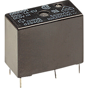 Miniature power relay G5Q, 1 NO, 5 V DC, 5 A OMRON G5Q1AEU5DC