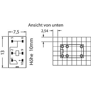Subminiature relay, 1 x UM, 125VAC/60V 1A, 5V OMRON