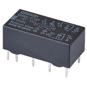 Printrelais - 2 Wechsler, 2 A, 12 V DC OMRON G6AK-274P-ST-US 12DC