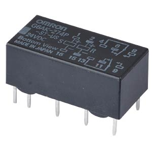 Printrelais - 2 Wechsler, 2 A, 24 V DC OMRON G6AK-274P-ST-US 24DC