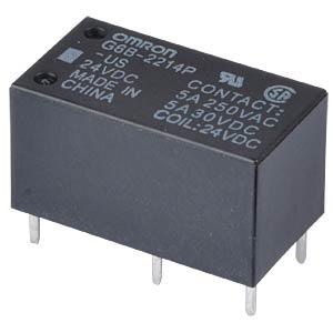 Printrelais - 2x NO 5 A, 24 V DC OMRON G6B2214PUS24DC