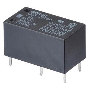 Printrelais - 2 Schließer, 5 A, 5 V DC OMRON G6B-2214P-US 5VDC