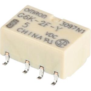 Subminiaturrelais, SMD, 2x UM, 125VAC/60V 1A OMRON