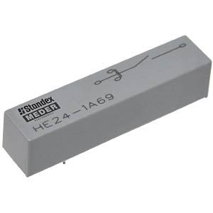 High-voltage reed relay, 24 V, 1 NO, 3 A MEDER 8524183002