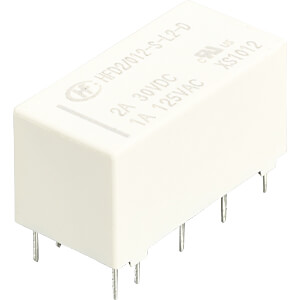 Signal relay bistable, 2 Pole 2A HONGFA HFD2/012-S-L2-D
