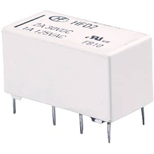 Monostable signal relay, 2 changeover contacts 2 A HONGFA HFD2/012-S-D
