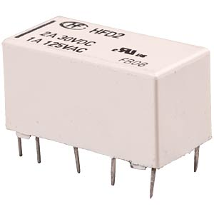 Bistable signal relay, 2 changeover contacts 2 A HONGFA HFD2/024-S-L2-D