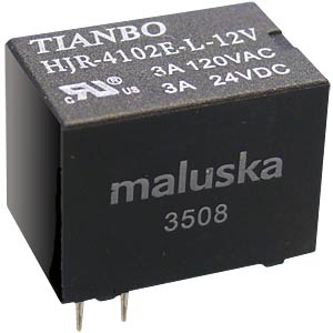 Miniature relay, 1 changeover contact, 3 A, sealed, 5 V TIANBO HJR4102E-L-5VDC-S-Z