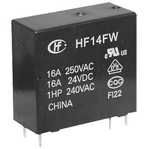 Power relay, 24V, 1 NO, 20A HONGFA HF14FW/024-HT