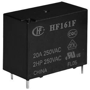 Power relay, 24 V, 1 NO, 25 A HONGFA HF161F/024-HT