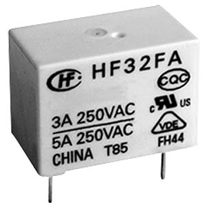 Power relay, 24 V, 1 NO, 5 A, RT III HONGFA HF32FA/024-HSL2